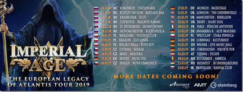 Imperial Age Tour Dates